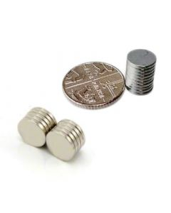D8.0 x 1.0mm N35 Zinc Plated Magnet (Pack of 10)