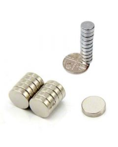 D8.0 x 3mm N35 Nickel Plated Magnet (Pack of 10)