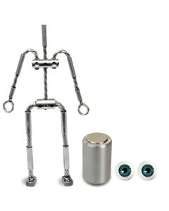 Animation Supplies Bundle Deal - AliExtra Armature Kit, Professional Tie-Down Magnet and Blue Acrylic Eyes