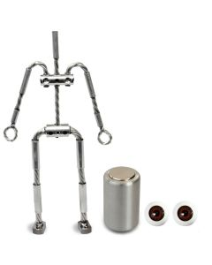 Animation Supplies Bundle Deal - AliExtra Armature Kit, Professional Tie-Down Magnet and Brown Acrylic Eyes