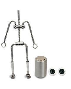 Animation Supplies Bundle Deal - AliExtra Armature Kit, Professional Tie-Down Magnet and Grey Acrylic Eyes
