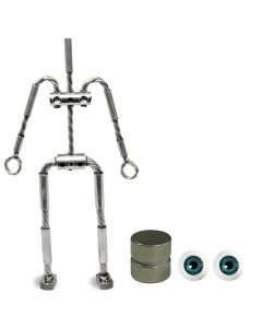 Animation Supplies Bundle Deal - AliExtra Armature Kit, Standard Tie-Down Magnets and Blue Acrylic Eyes