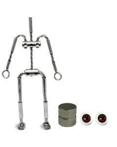 Animation Supplies Bundle Deal - AliExtra Armature Kit, Standard Tie-Down Magnets and Brown Acrylic Eyes