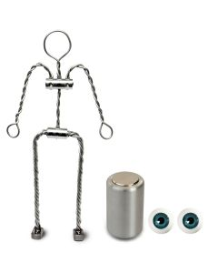 Animation Supplies Bundle Deal - Aluminium Armature Kit, Professional Tie-Down Magnet and Blue Acrylic Eyes