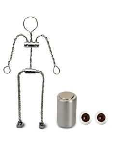Animation Supplies Bundle Deal - Aluminium Armature Kit, Professional Tie-Down Magnet and Brown Acrylic Eyes