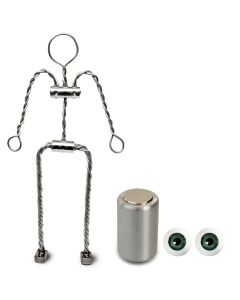 Animation Supplies Bundle Deal - Aluminium Armature Kit, Professional Tie-Down Magnet and Green Acrylic Eyes