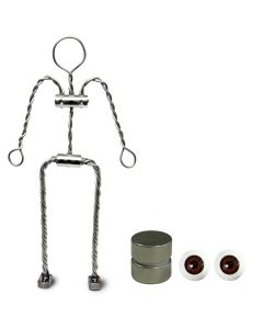 Animation Supplies Aluminium Armature Bundle Deal. Standard Tie-Down Magnets and Brown Acrylic Eyes