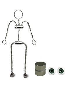 Animation Supplies Aluminium Armature Bundle Deal. Standard Tie-Down Magnets and Green Acrylic Eyes