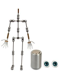 Animation Supplies Bundle Deal - Professional Armature Kit, Professional Tie-Down Magnet and Blue Acrylic Eyes