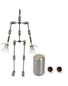 Animation Supplies Bundle Deal - Professional Armature Kit, Professional Tie-Down Magnet and Brown Acrylic Eyes