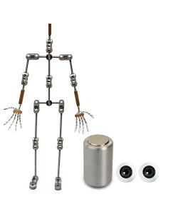 Animation Supplies Bundle Deal - Professional Armature Kit, Professional Tie-Down Magnet and Grey Acrylic Eyes