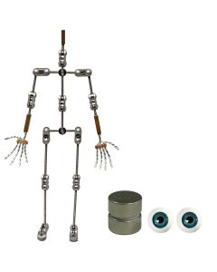 Animation Supplies Bundle Deal - Professional Armature Kit, Standard Tie-Down Magnets and Blue Acrylic Eyes
