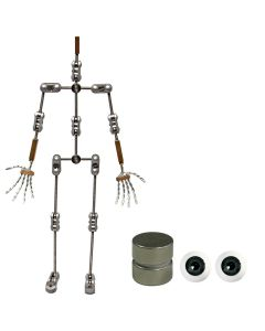 Animation Supplies Bundle Deal - Professional Armature Kit, Standard Tie-Down Magnets and Grey Acrylic Eyes
