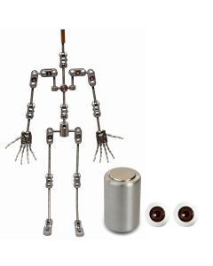 Animation Supplies Bundle Deal - ProPlus Armature Kit, Professional Tie-Down Magnet and Brown Acrylic Eyes