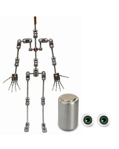 Animation Supplies Bundle Deal - ProPlus Armature Kit, Professional Tie-Down Magnet and Green Acrylic Eyes