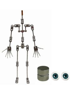 Animation Supplies Bundle Deal - ProPlus Armature Kit, Standard Tie-Down Magnets and Blue Acrylic Eyes