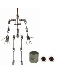 Animation Supplies Bundle Deal - ProPlus Armature Kit, Standard Tie-Down Magnets and Brown Acrylic Eyes