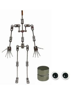 Animation Supplies Bundle Deal - ProPlus Armature Kit, Standard Tie-Down Magnets and Green Acrylic Eyes