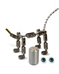 Animation Supplies Bundle Deal - ProPlus Quadruped Armature Kit, Professional Tie-Down Magnet and Blue Acrylic Eyes