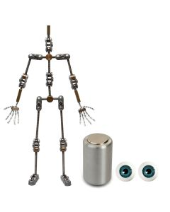 Animation Supplies Bundle Deal - Standard Armature Kit, Professional Tie-Down Magnet and Blue Acrylic Eyes