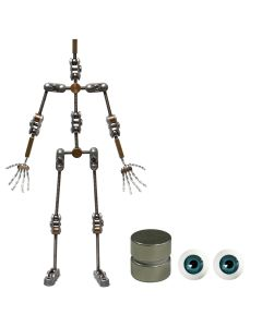 Animation Supplies Bundle Deal - Standard Armature Kit, Standard Tie-Down Magnets and Blue Acrylic Eyes