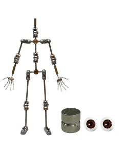 Animation Supplies Bundle Deal - Standard Armature Kit, Standard Tie-Down Magnets and Brown Acrylic Eyes