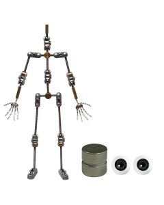 Animation Supplies Bundle Deal - Standard Armature Kit, Standard Tie-Down Magnets and Grey Acrylic Eyes